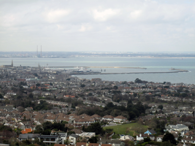 a view of Dun Laoghaire from Killiney Hill